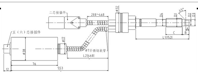 PT112/123/133/142高温熔体压力传感器/变送器 这类传感器通称:高温压力传感器/变送器、蒸气压力传感器,锅炉压力传感器,挤出机械压力传感器,塑料挤出压力传感器,橡胶压力传感器,聚脂压力传感器 特性与应用: 刚性杆和软管膜片隔离结构,感压膜片加厚并经过特效热处理,介质温度在450以下,具有良好的稳定性和精度;应用于橡胶、塑料、化纤涤纶锦纶、聚脂、蒸汽等机械设备的高温流体/气体介质的压力测量和控制.
