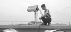 """3D可视激光雷达空气质量监测仪在长沙""""上岗"""" 监测神器自动扫描空气质量"""