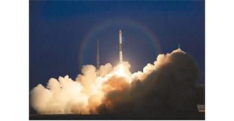 """中国在酒泉卫星发射中心成功发射""""一箭双星"""""""