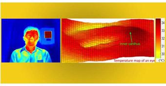 新型测温仪 可通过全脸读数进行检测