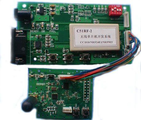 方便的连接到cc1010/nrf24e1/nrf9e5无线单片机为核心的任何目标系统