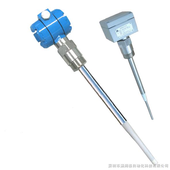 TMS8800系列多点射频电容料位开关 TMS8800系列多点(1-4点)射频电容料位开关(四点电容物位开关详情请点击)是一种高度智能化的物位测量产品 本产品采用国际上先进的射频电容测量及微控制器技术,可以检测固体颗粒、粉料(包括导电介质和非导电介质),尤其是可测量强腐蚀性介质;测量温度可达180,耐压可达4MPa。 操作简单,只需按设定按键就可以设定上限或下限;控制方式灵活,用户可自行选择常开或常闭触点。 能克服探头上粘附层及物料喷溅对测量的影响。在这些场合,电容开关均不会产生误动作 采用聚四氟乙烯保护