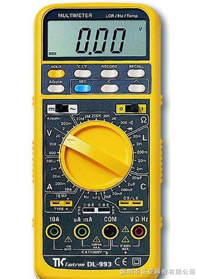 dl-993 多功能数字电表 dl993 万用表 lcr测试仪