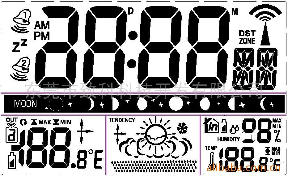 温湿度电波钟天气预报ic