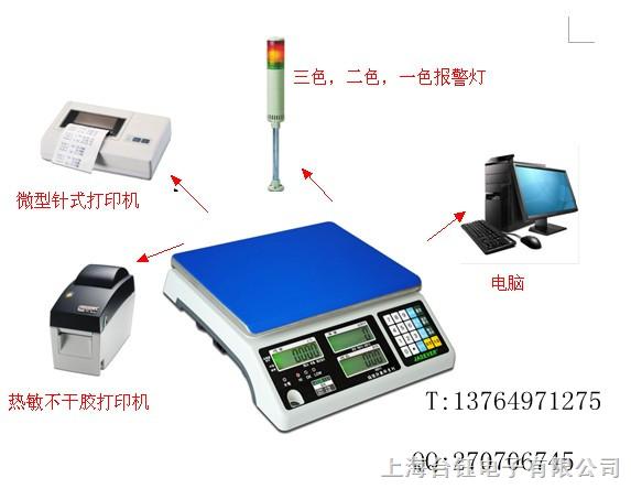 连接电脑超级终端电子称,RS232电子台秤,电子